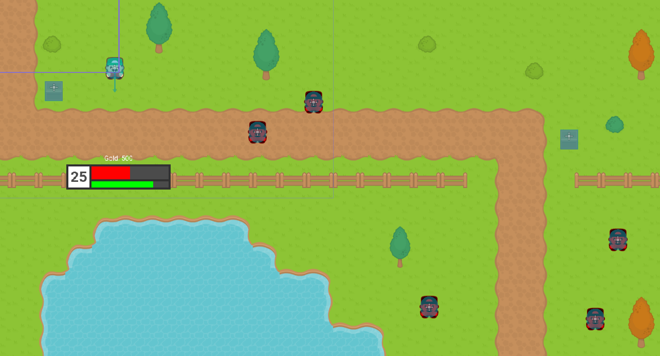 Godot 2D RPG with UI added to scene