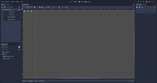 Godot Editor in 2D view