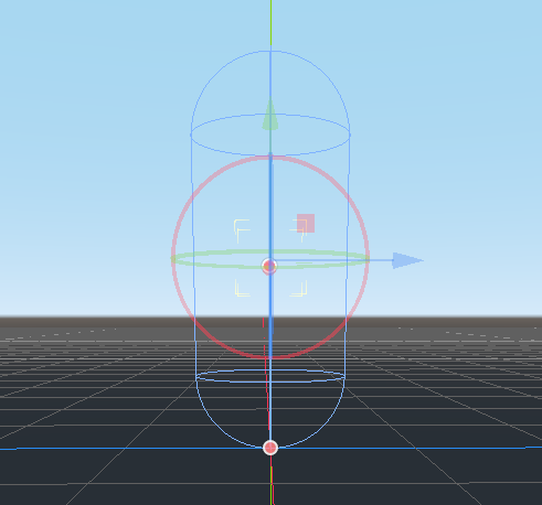 Godot Capsule CollisionShape moved up