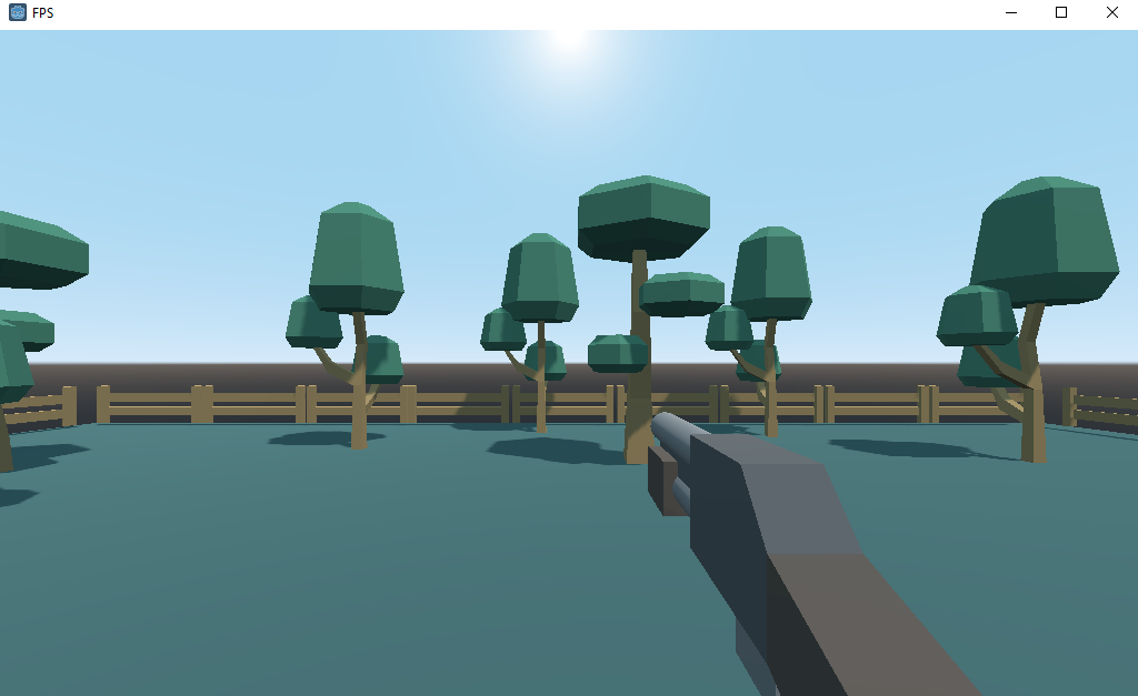 Test play of Godot FPS with player