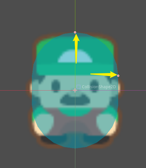 Sprite with collision shape added